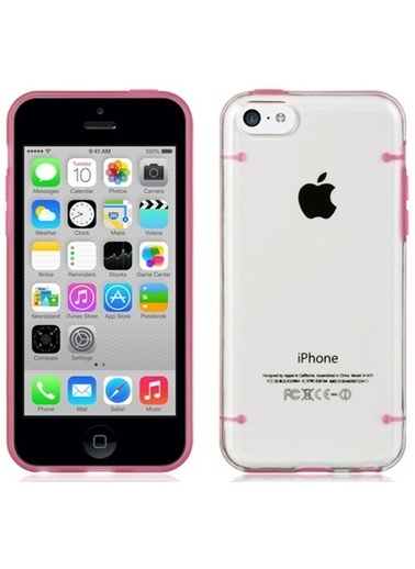 Microsonic Hybrid Tranparant iPhone  6 Plus 5.5'' Kılıf Pembe Renkli